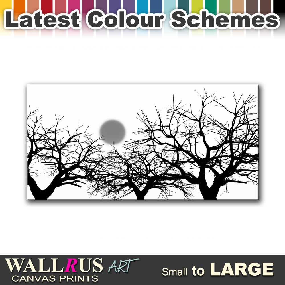Trees Sun ABSTRACT  Canvas Print Framed Photo Picture Wall Artwork WA