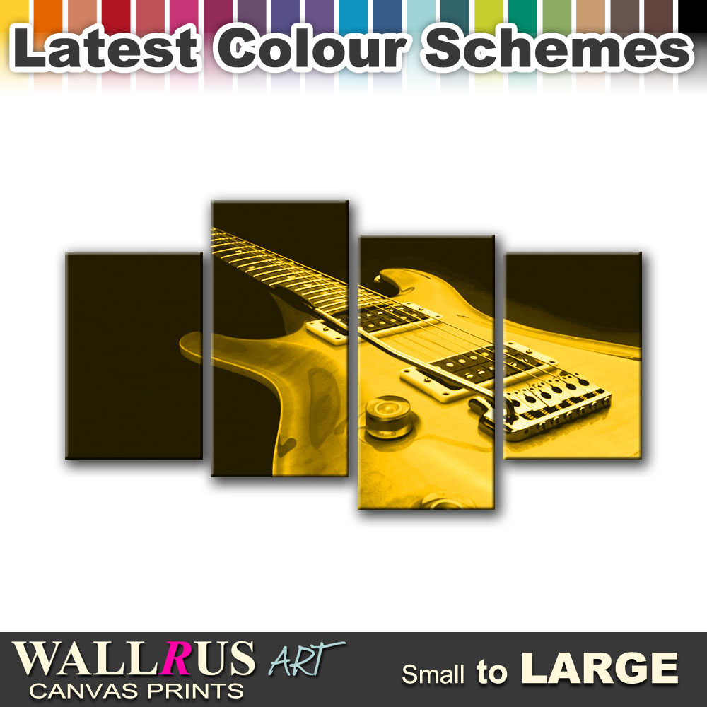 Guitar MUSIC INSTRUMENTS Canvas Print Framed Photo Picture Wall ...