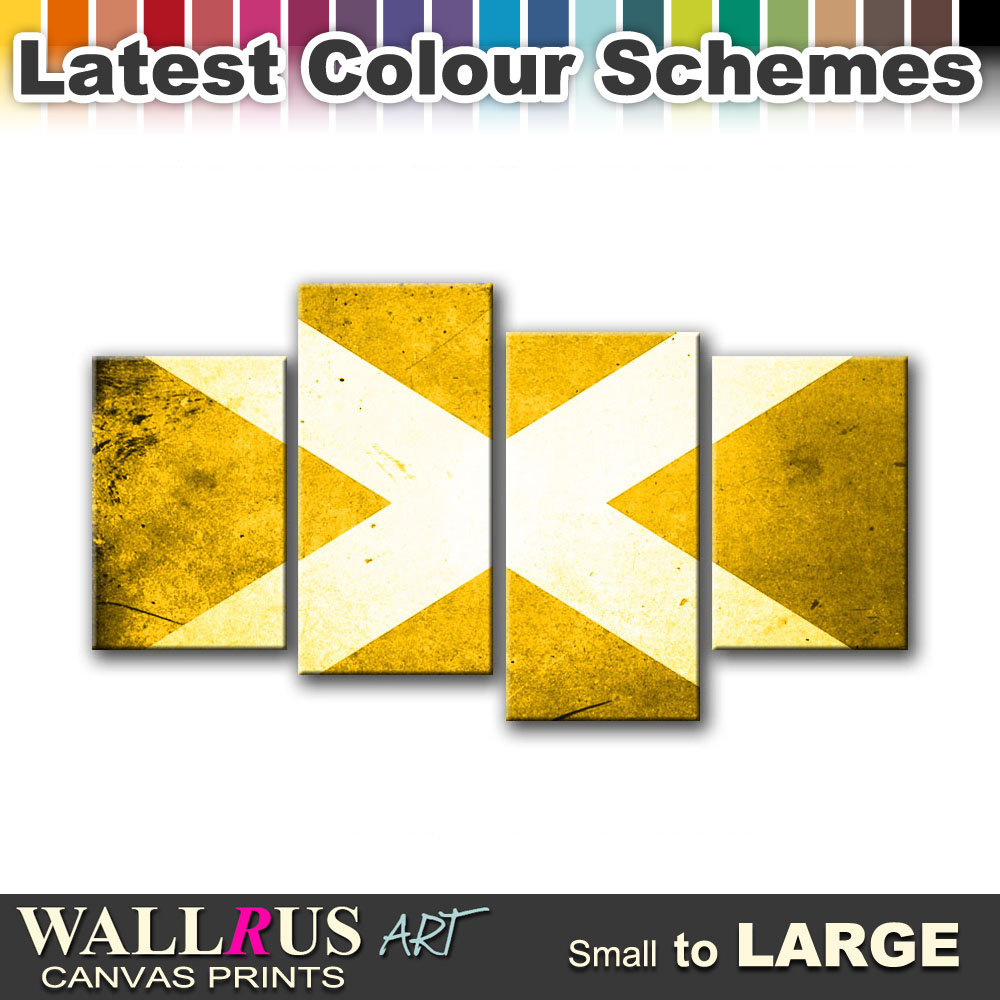 Abstract Scottish FLAGS Canvas Print Framed Photo Picture Wall ...
