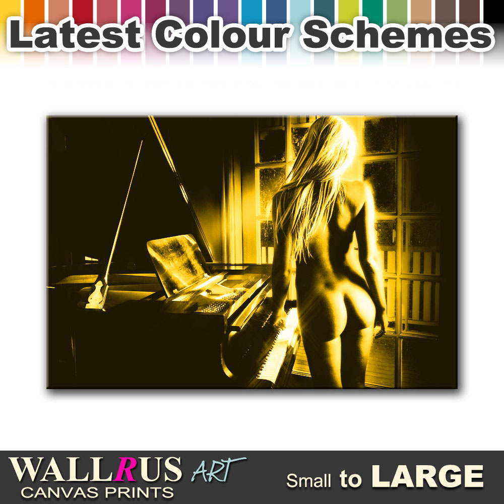 Piano Girl NUDES EROTIC Canvas Print Framed Photo Picture Wall ...