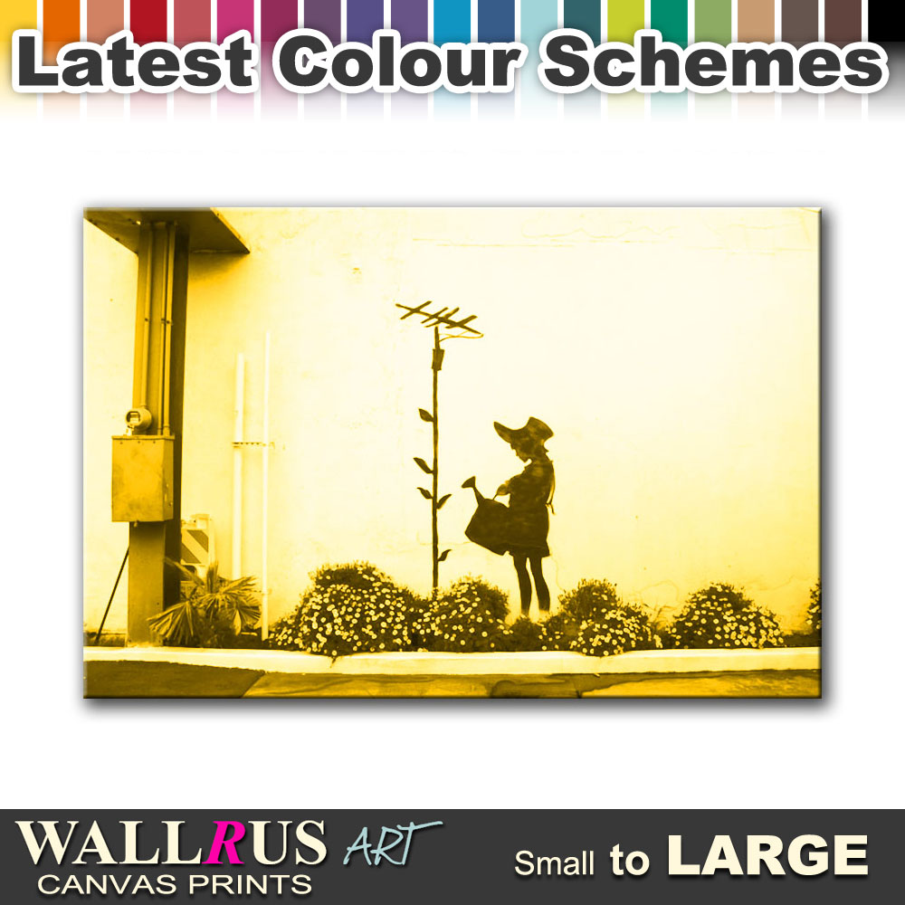 Sunflower Aerial BANKSY Canvas Print Framed Photo Picture Wall ...
