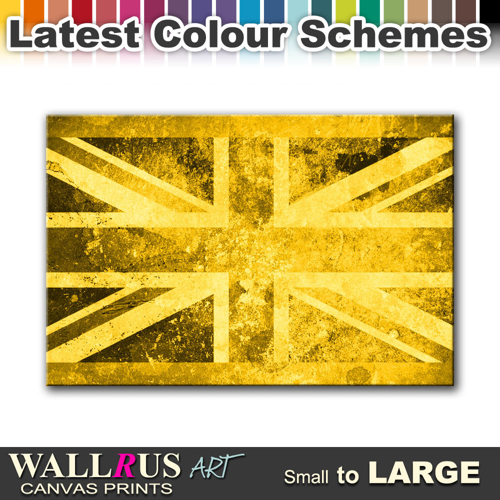 Union Jack Abstract FLAGS Canvas Print Framed Photo Picture Wall ...