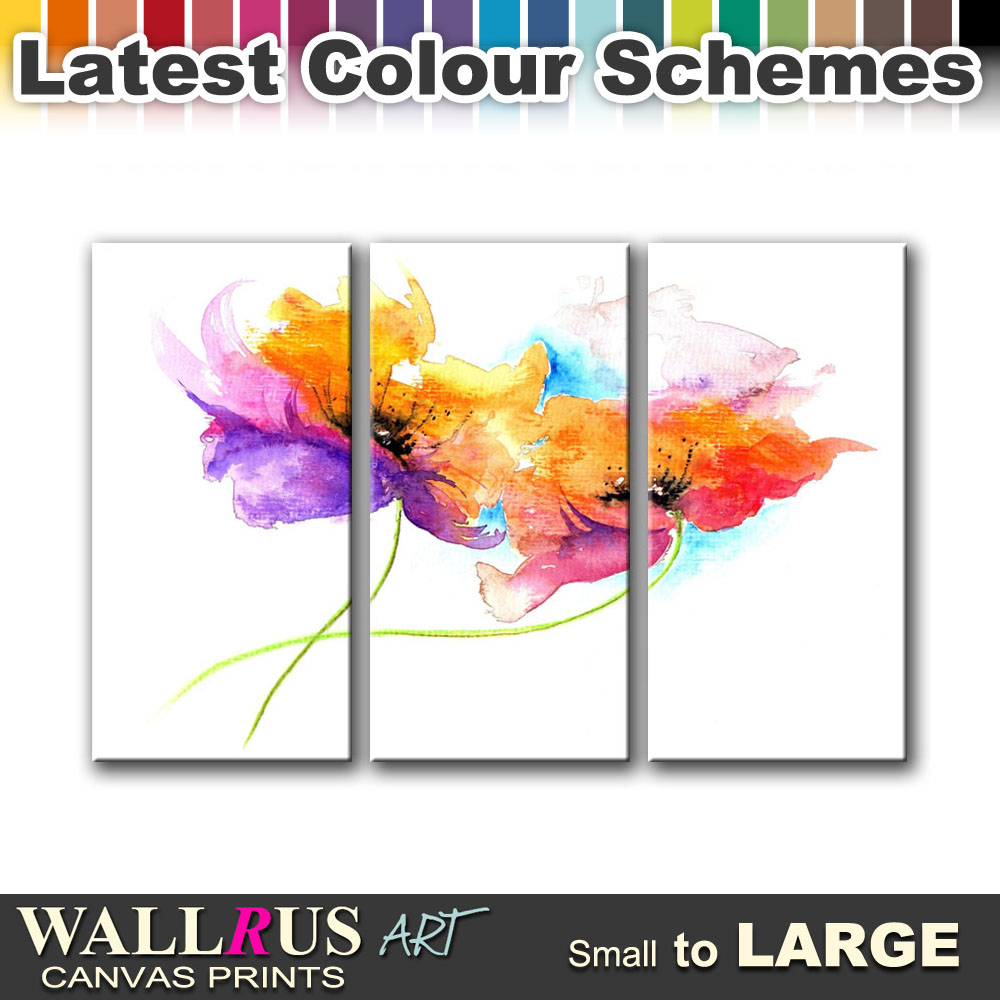 Painting style floral canvas print framed photo picture for Best place to buy canvas prints