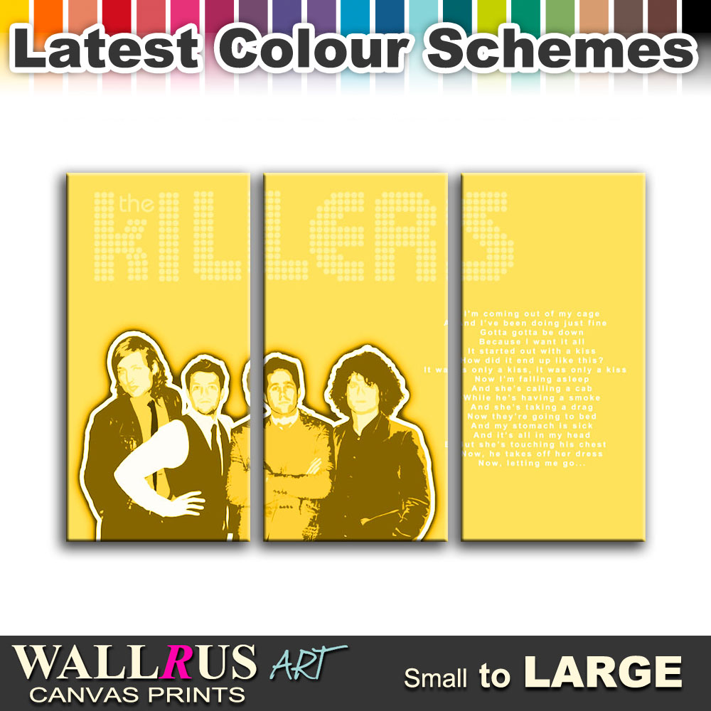 The Killers Mr Brightside Lyrics Canvas Print Framed Photo Picture ...