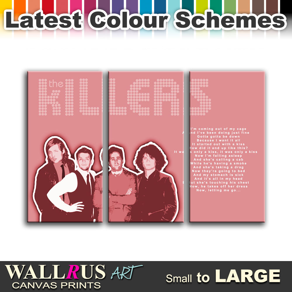 The Killers Mr Brightside Lyrics Canvas Print Framed Photo Picture ...