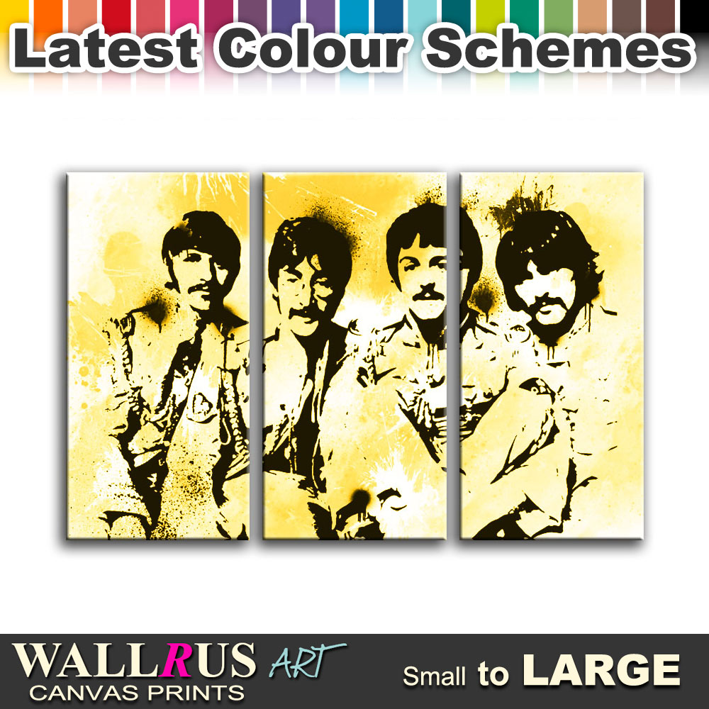 The Beatles Music Icons Canvas Print Framed Photo Picture Wall ...