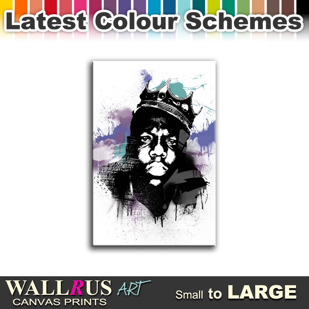 Notorious B.I.G. Biggie Smalls Canvas Print Framed Photo Picture ...